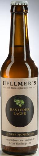 Bierflasche Rasteder Lager von der Brauerei Hellmer