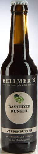 Bierflasche Rasteder Dunkel von der Brauerei Hellmer