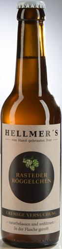Bierflasche Rasteder Röggelchen von der Brauerei Hellmer