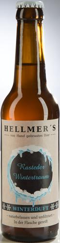 Bierflasche Rasteder Wintertraum von der Brauerei Hellmer