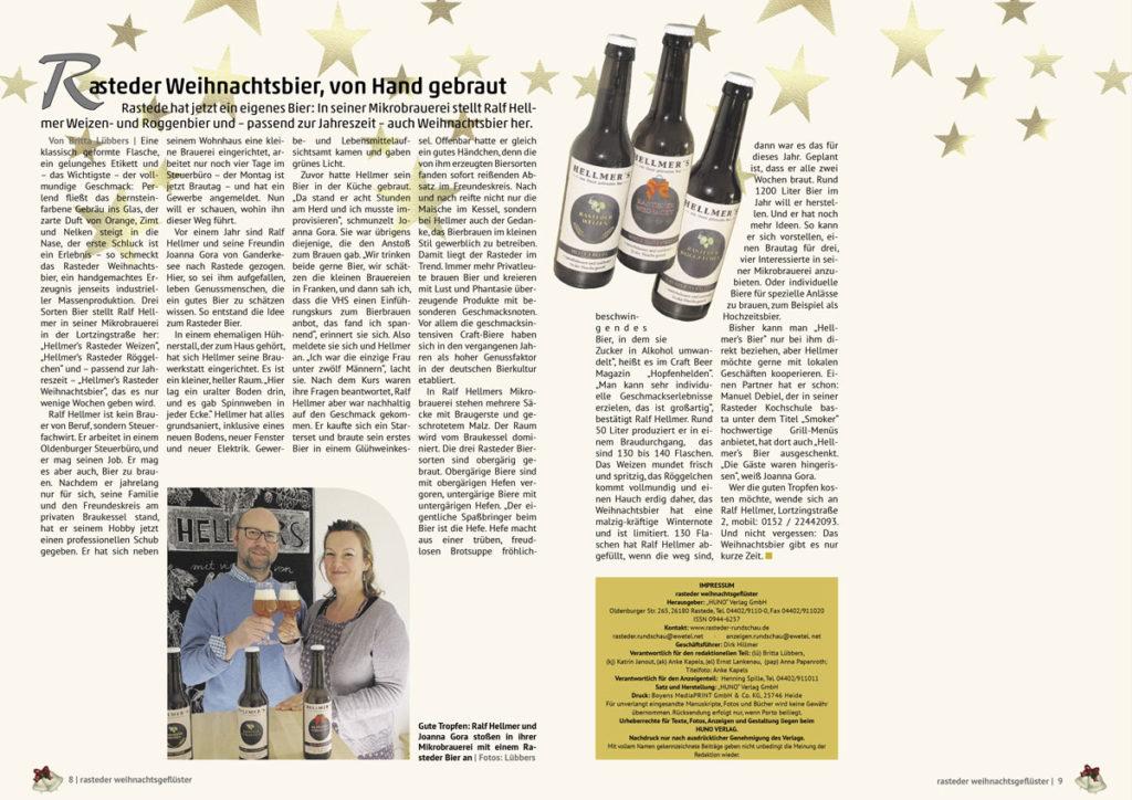 Artikel über die Brauerei Hellmer