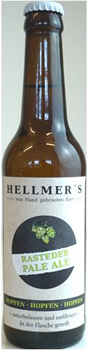 Flasche Pale Ale von der Brauerei Hellmer