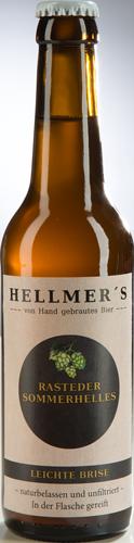 Flasche Rasteder Sommerhelles von der Brauerei Hellmer